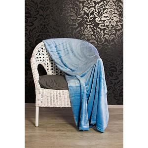 Mikroflanelová deka Premium 230 x 200 - Světle modrá