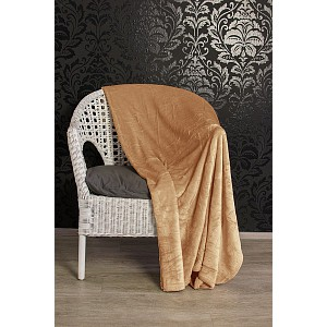 Mikroflanelová deka Premium 150x200 - Světle hnědá