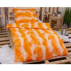 Flanelové povlečení DELUXE 140x200+70x90 - Oranžové tónování