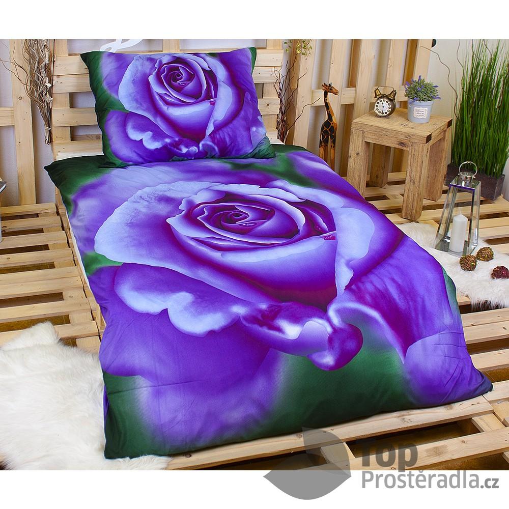 TOP 3D Povlečení 140x200 70x90 Bluelila Rose
