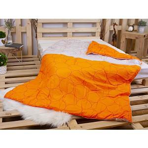 Letní přikrývka z dutého vlákna 140x200 Bílo-oranžová