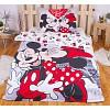 Bavlněné povlečení 140x200+70x90 Mickey & Minnie Je T'aime paris