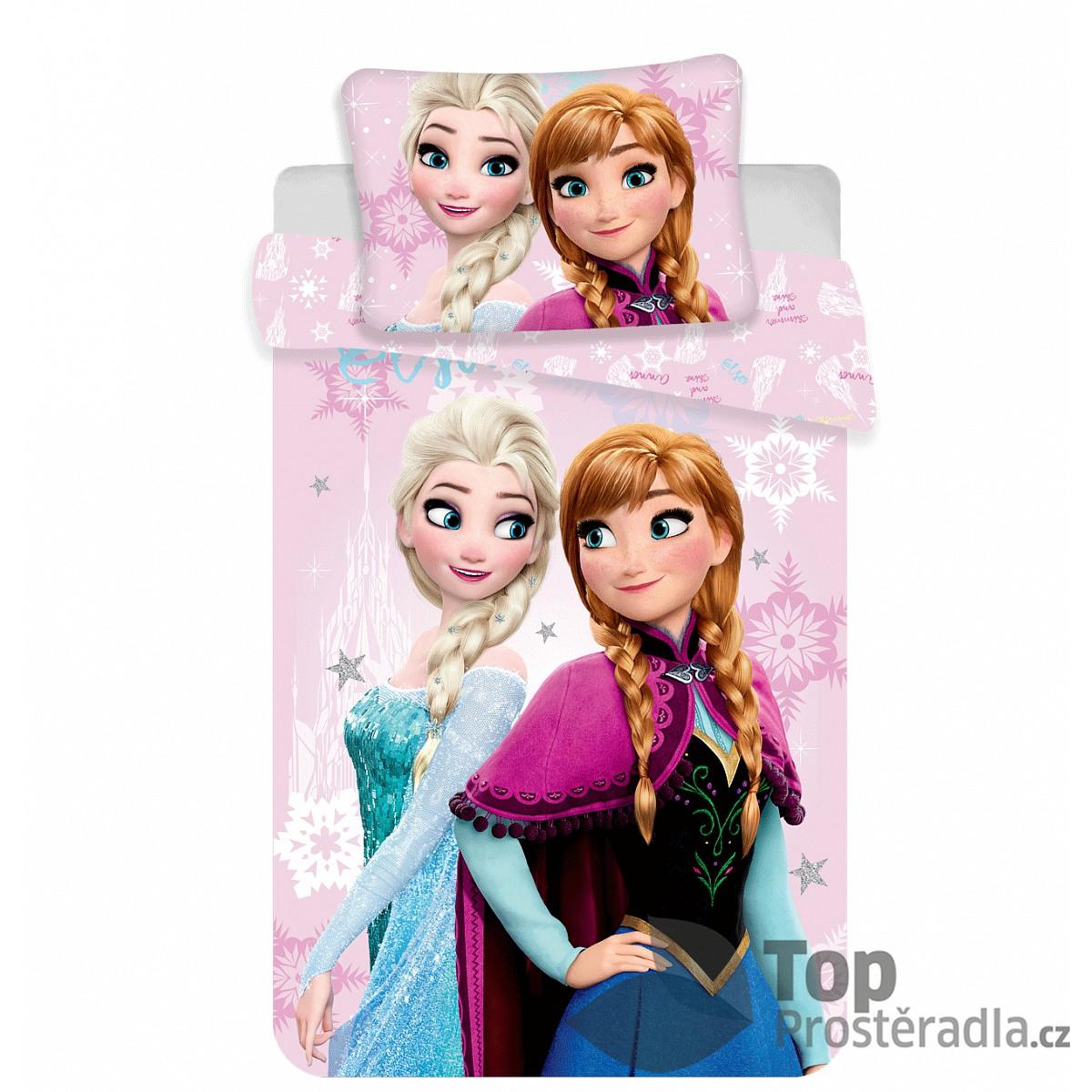 Dětské bavlněné povlečení Frozen sister love 100x135+40x60