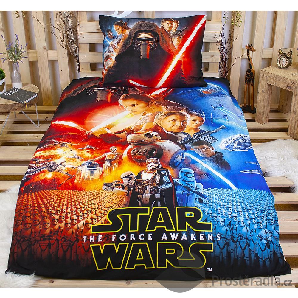 Povlečení z mikrovlákna Star Wars The force awakens 140x200+70x90