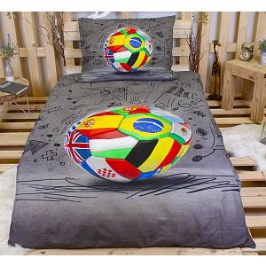 3D Povlečení 140x200+70x90 Fotbal World