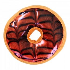 Dekorační plyšový polštářek DONUT 40 cm -  Dark Cherry