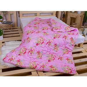 Zimní prošívaná přikrývka WINTER 140x200 Růžové kytice