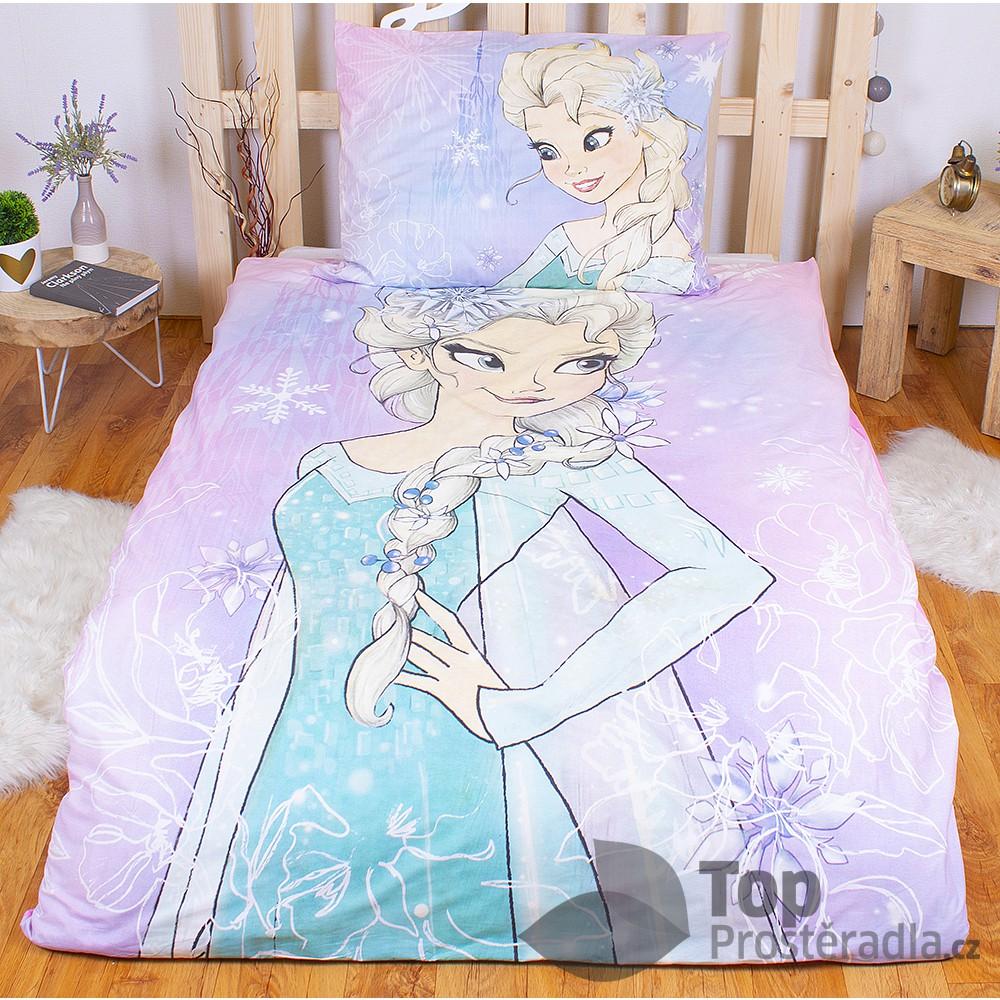 TOP Bavlněné povlečení Frozen Elsa 140x200+70x90