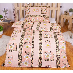 Krepové povlečení Exclusive 140x200+70x90 Tygří lilie