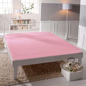Jersey prostěradlo (220 x 200) Premium - Světle růžová