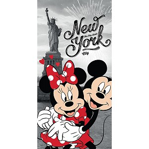 Osuška 70x140 - Mickey & Minnie v NY