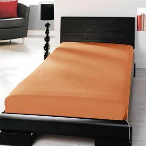 Jersey prostěradlo (90 x 200) Premium - Cihlová