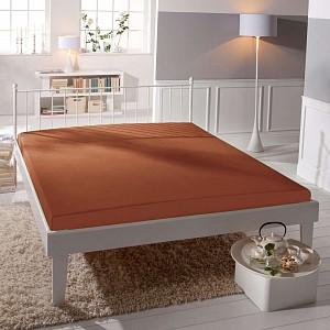 Jersey prostěradlo (180 x 200) Premium - Cihlová