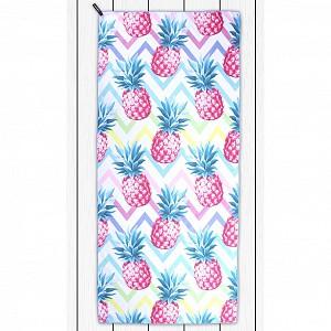Rychloschnoucí plážová osuška BEACH 80x180 - Pineapple