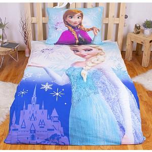 Bavlněné povlečení Frozen Elsa & Anna 140x200+70x90 (ve tmě svítí)