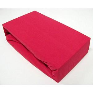 Jersey prostěradlo (140 x 200) Premium - Červená