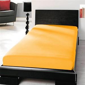 Jersey prostěradlo (90 x 200) Premium - Sluneční žlutá