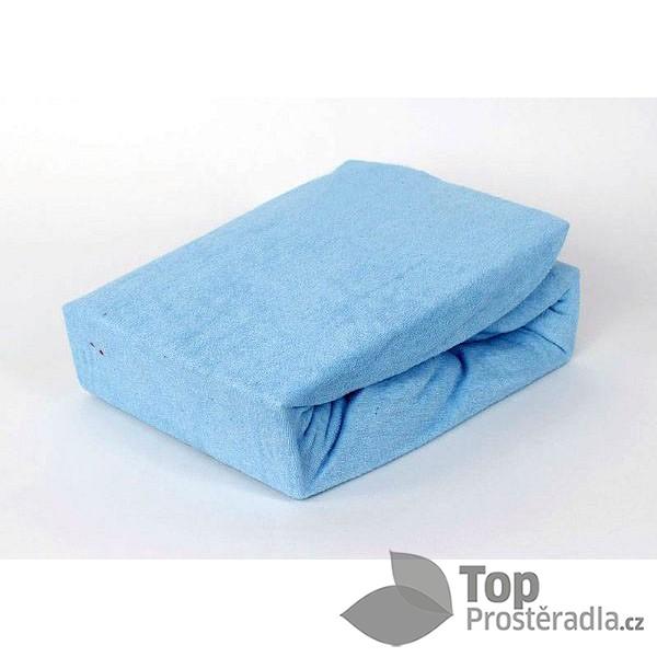 Froté prostěradlo (140 x 200) Premium - Nebeská modř ... 5cc5b79ce43
