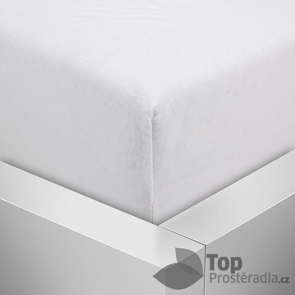 TP Jersey prostěradlo Premium 190g/m2 140x200 Bílá