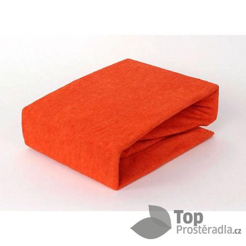 Froté prostěradlo (160 x 200) Premium - Oranžová