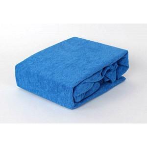Froté prostěradlo (160 x 200) Premium - Modrá