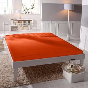 Jersey prostěradlo (160 x 200) Premium - Oranžová