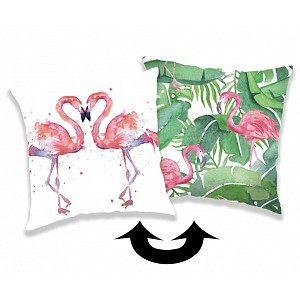 Polštářek s flitry 40x40 Flamingo