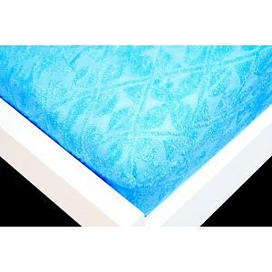Žakárové prostěradlo (90 x 200) Premium - Azurová