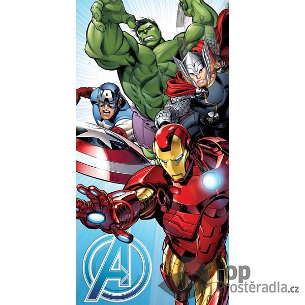 TOP Osuška 70x140 Avengers Light blue
