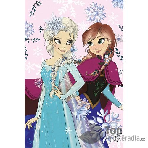 Dětská fleecová deka 100x150 Frozen pastel