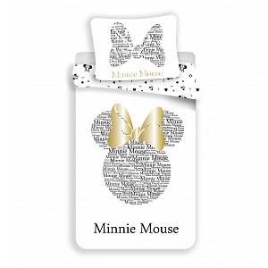 Bavlněné povlečení Minnie GOLD 140x200+70x90 (třpytí se)