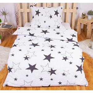 Krepové povlečení PREMIUM 140x200+70x90 - White stars