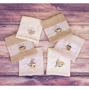 Coffee dárkový set - vaflové utěrky 6ks