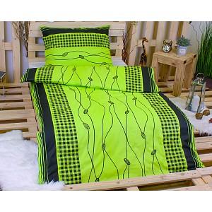 Bavlněné povlečení 140x200+70x90 - Lana zelená