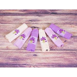 Lavender dárkový set - vaflové utěrky 6ks