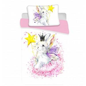 Dětské bavlněné povlečení 100x135+40x60 Bunny white