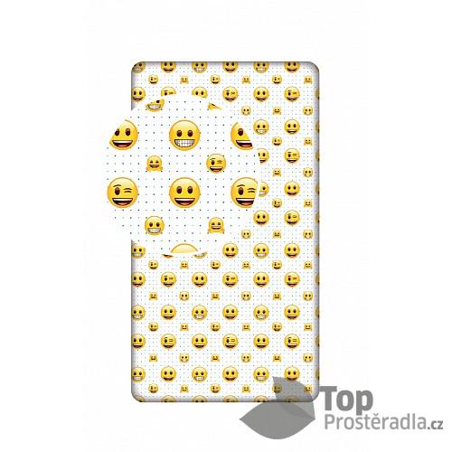 Bavlněné prostěradlo 90x200 Emoji