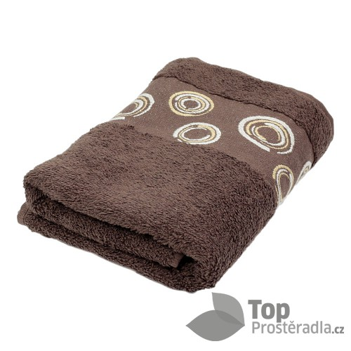 Froté ručník EXCLUSIVE - Circles hnědé