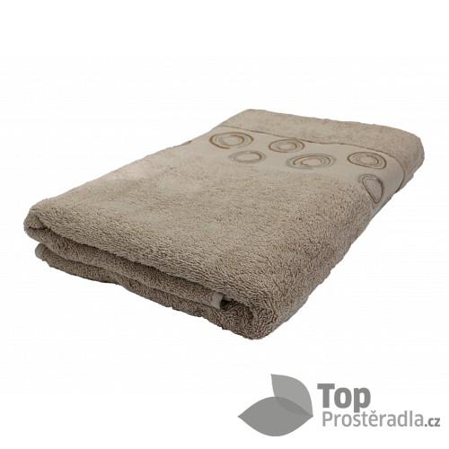 Froté ručník EXCLUSIVE - Circles béžové