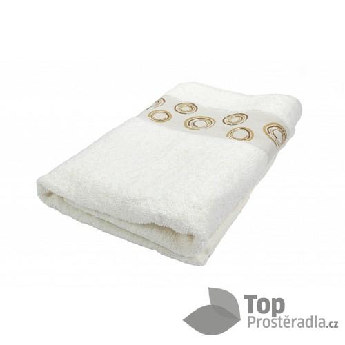 Froté ručník EXCLUSIVE - Circles krémová