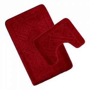 Koupelnová a WC předložka Red