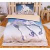 Bavlněné povlečení 140x200+70x90 - White horse
