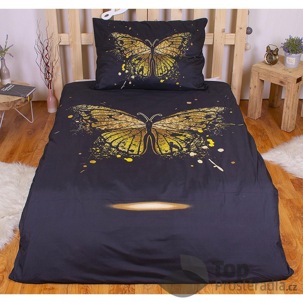TP 3D povlečení 140x200 + 70x90 - Golden butterfly