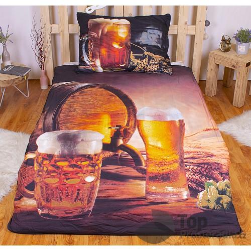 3D povlečení 140x200 + 70x90 - Golden beer