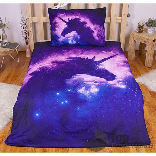 3D povlečení 140x200 + 70x90 -  Night sky unicorn