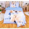 Sedmidílná sada 3D povlečení 140x200+70x90 - Winter puppy