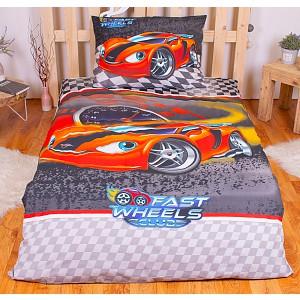 Bavlněné povlečení 140x200+70x90 -  Fast wheels club