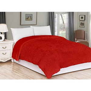 Luxusní deka s dlouhým vlasem 150 x 200 - Červená