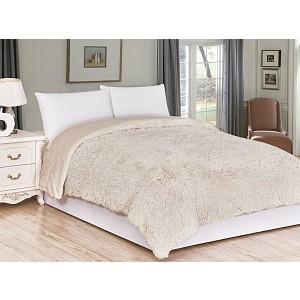 Luxusní deka s dlouhým vlasem 150 x 200 - Béžová