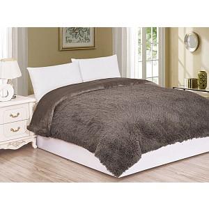 Luxusní deka s dlouhým vlasem 150 x 200 - Hnědá